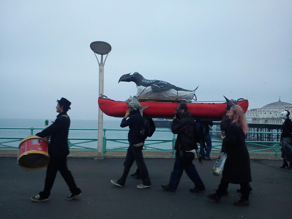great auk carried aloft