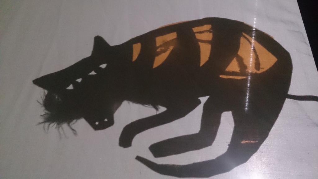 thylacine shadow puppet